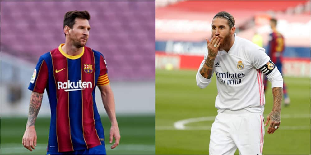 Sergio Ramos produces best tackle on Messi since both stars clashed in El Clasico