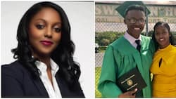 Mum celebrates son's graduation from secondary school with cute photo with him, people say she looks younger