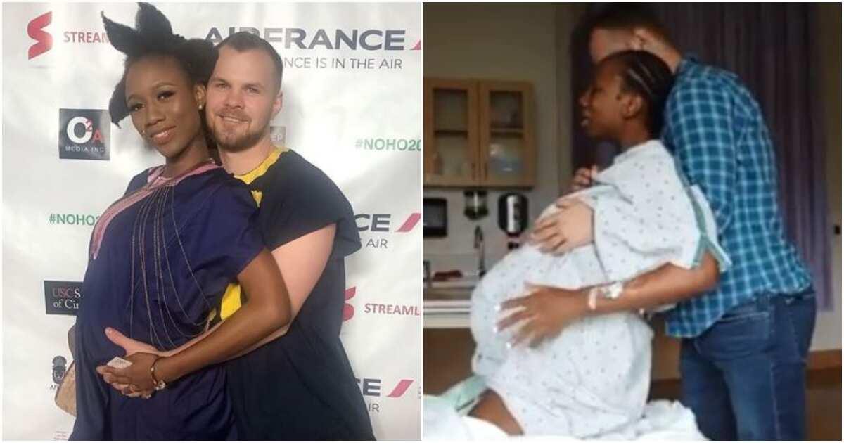 Popular Nigerian dancer Korra Obidi and American husband welcome first child