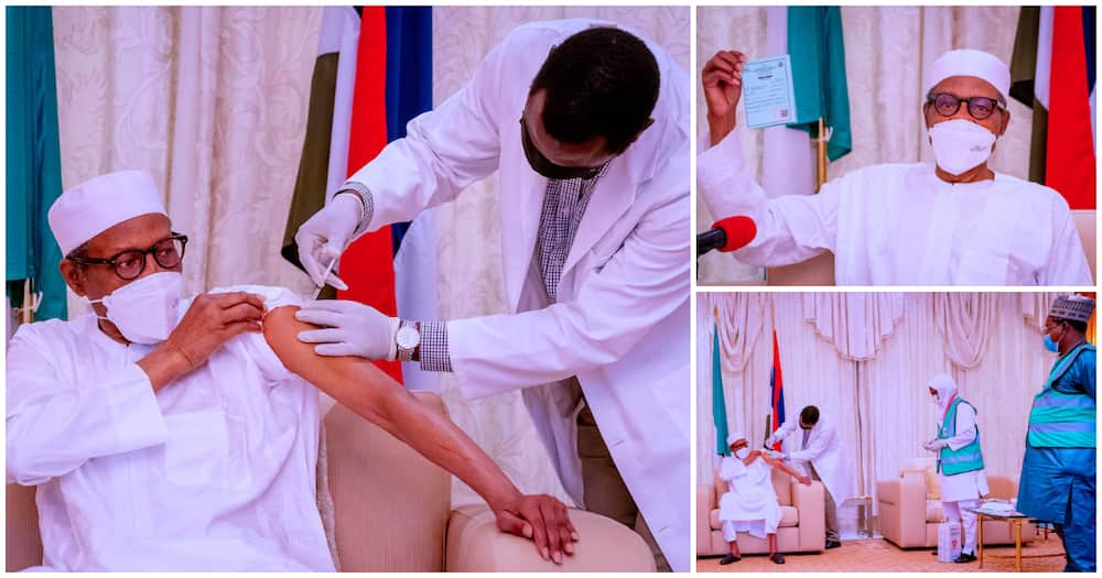 Breaking: Buhari Takes Second Dose of COVID-19 Vaccine, Presidency Shares Photos