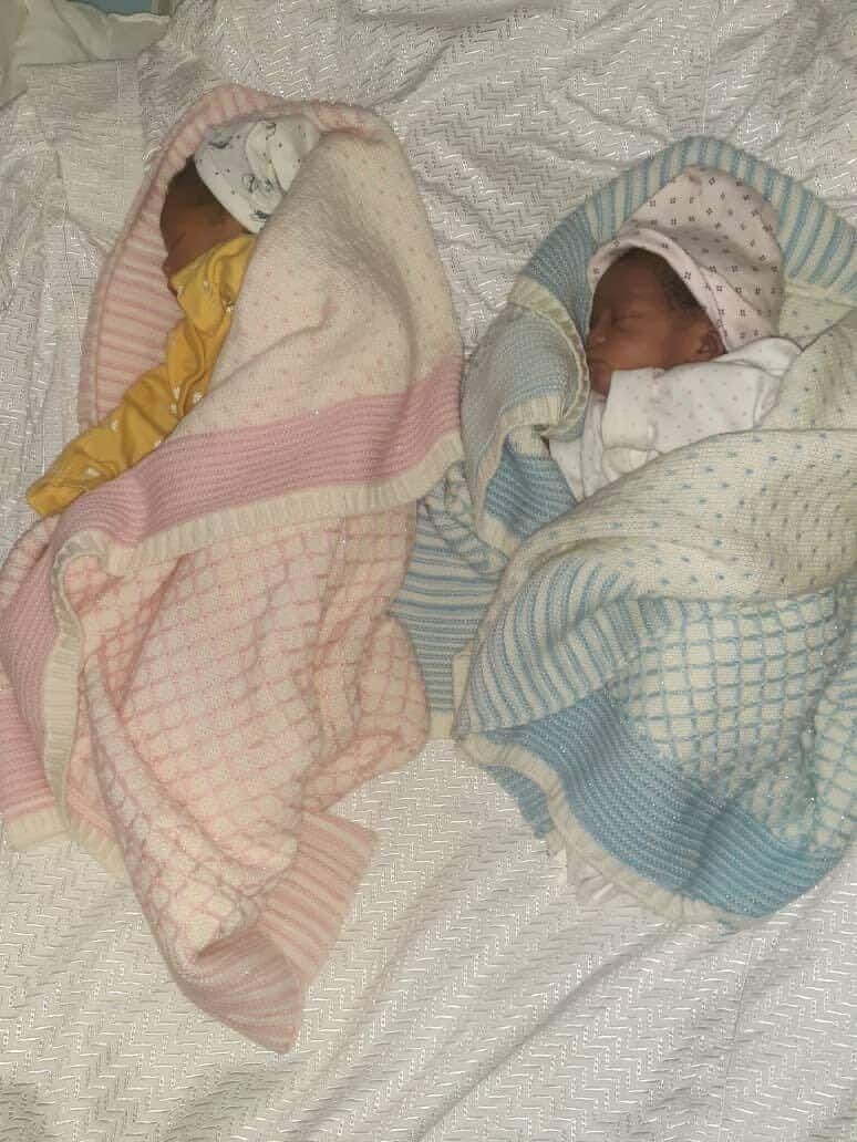 Gani Adams and wife welcome a set of twins, a boy and a girl