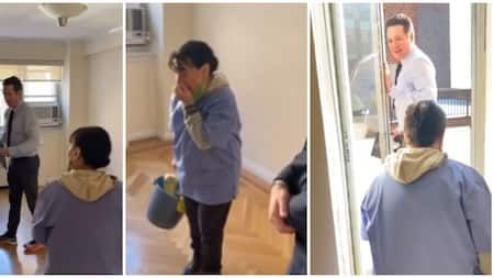 Emotional Moment Housemaid is gifted 4-bedroom apartment after 20 years of cleaning, she cries in the video