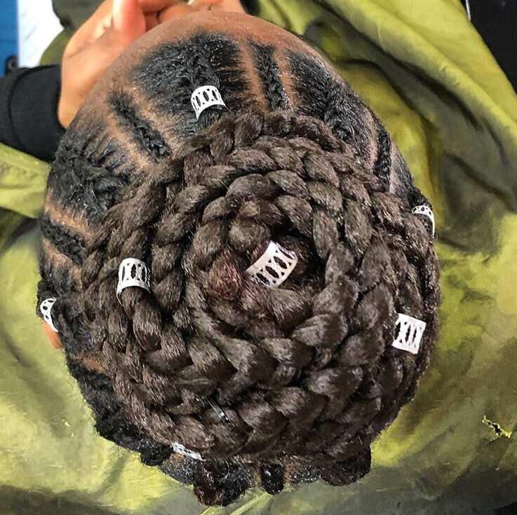 feed in braids long
