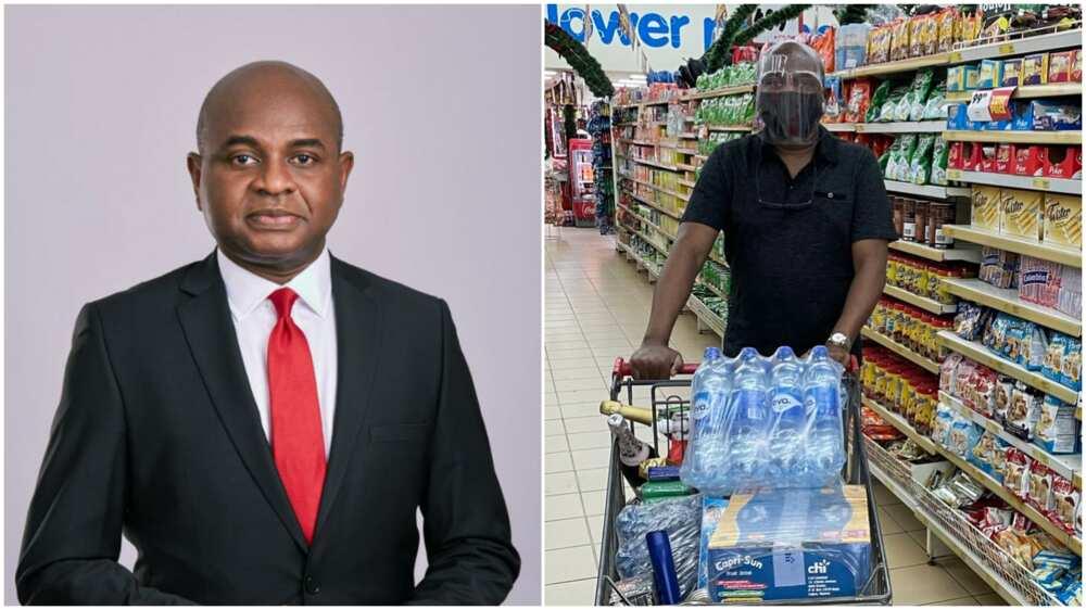 Xmas shopping: Kingsley Moghalu buys items for festive season, many react