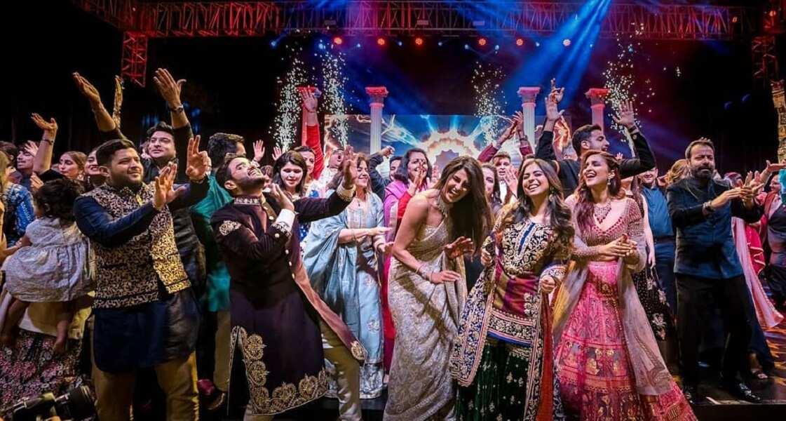 Sangeet dance battle at Priyanka Chopra and Nick Jonas wedding