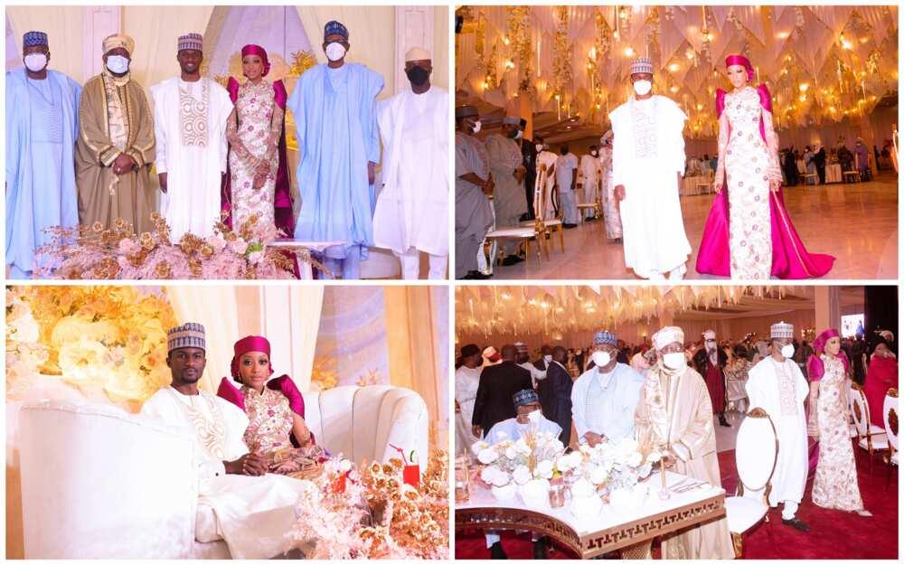 Hotunan shagalin 'Luncheon' na auren Yusuf Buhari da amaryarsa Zahra Bayero
