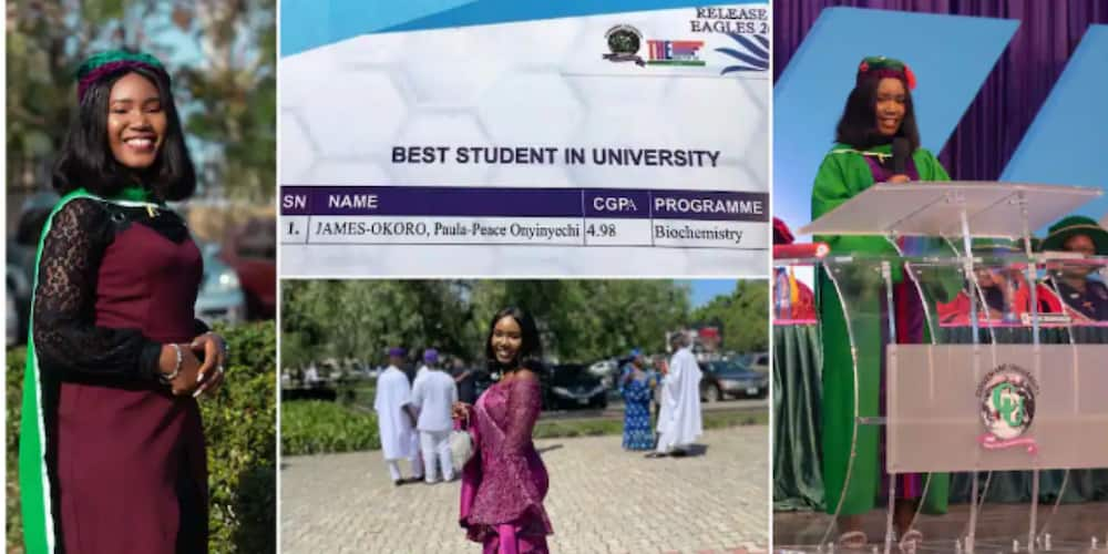 The young lady graduated with 4.98/50 CGPA
