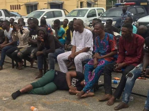 Police parade 49 suspects arrested at Yoruba Nation rally in Lagos