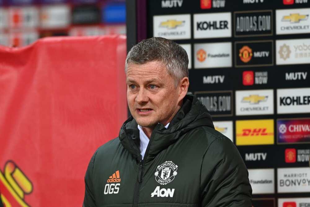 Ole Solskjaer in action for Manchester United