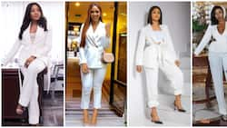 Battle of the pantsuits: BBNaija star Erica, Lily Afegbai, 8 others rock similar outfits