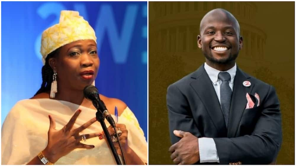 Abike Dabiri said his win is a well-deserved one. Photos sources: Premium Times, Twitter/NIDCOM