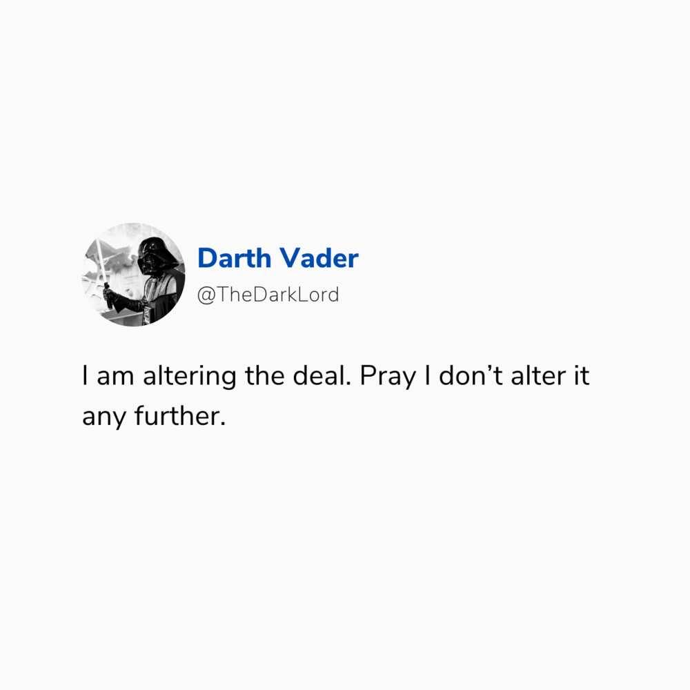 Darth Vader sayings