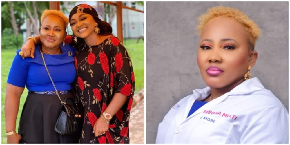 Photos of Mercy Aigbe and her sister, Pat.
