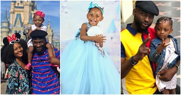 Gbenro Ajibade and wife Osas Ighodaro reunite in the US to celebrate daughter's 3rd birthday (photos, video)