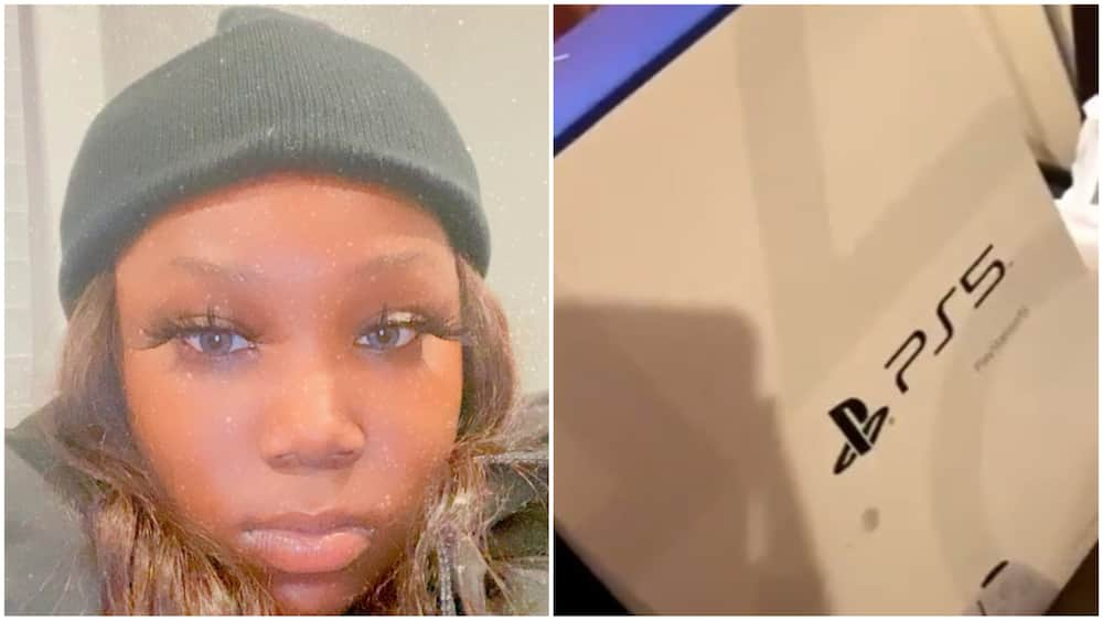 After lady bought herself PS5 game console worth N150, she goes online to 'cry' for TV
