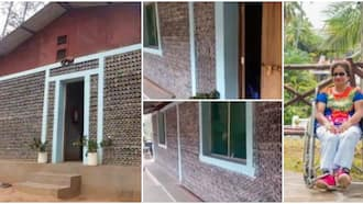 Woman builds 4-bedroom house for orphans with 50,000 plastic bottles, it has 2 bathrooms and a kitchen