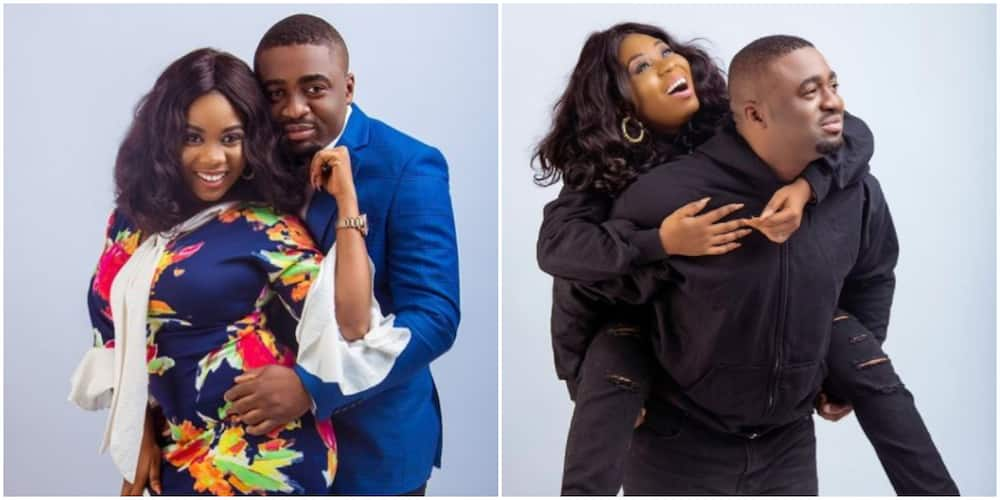 Wumi Toriola Rocks Matching Outfit With Hubby in Beautiful Photo as They Celebrate 3rd Wedding Anniversary