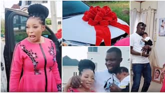 Actress Lizzy Anjorin rendered speechless as hubby surprises her with a car on 1st wedding anniversary