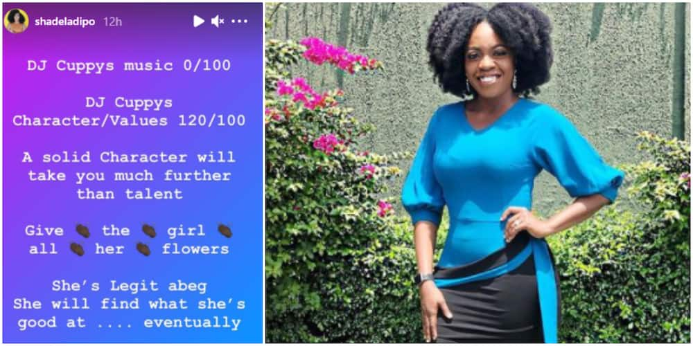 Shade Ladipo Rates DJ Cuppy's Music, Says Solid Character will Take Her further than Music