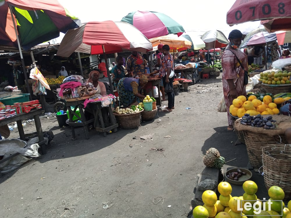 Despite the affordability of some fruit in the market, sellers decry poor patronage. Photo credit: Esther Odili