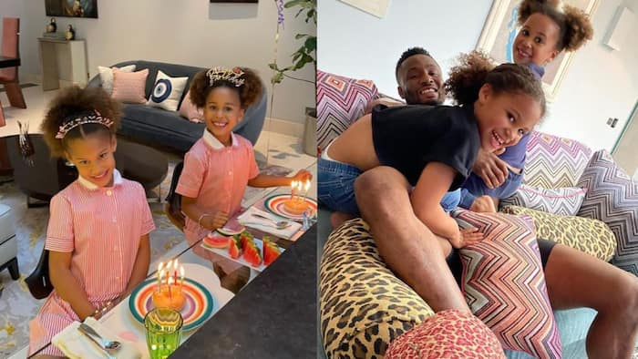 Super Eagles legend Mikel Obi pens emotional note to celebrate twin-daughters as they clock six