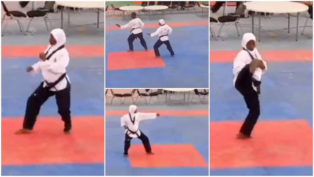 8 Month Old Pregnant Nigerian Woman Wins gold medal in Taekwondo Competition, her Video Causes Frenzy