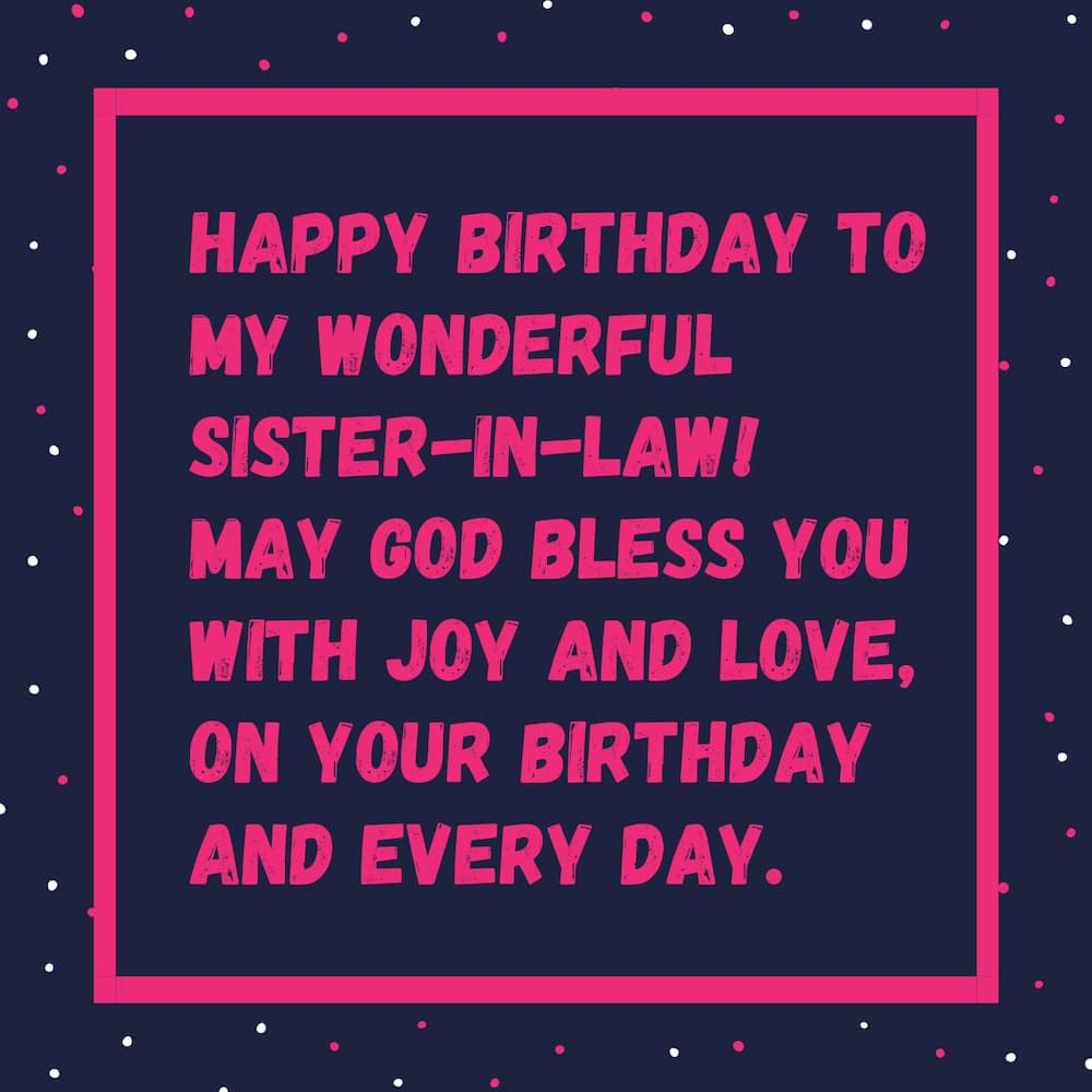 sister in law birthday wish