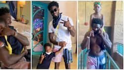 In video: Sweet moment Tiwa Savage's ex-hubby showed up unannounced in Dubai and surprised their son Jamil