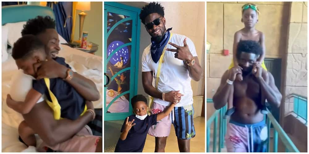 Heart-melting moment Tiwa Savage's ex-hubby Teebillz surprised their son Jamil in Dubai (video)
