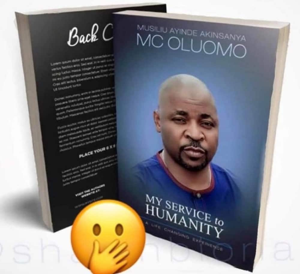 MC Olumo finally confirms authorship, says his book to be released in March 2021