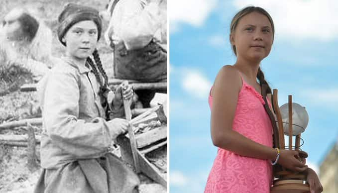 Kid in 1898 picture bears striking resemblance with present-day activist Greta