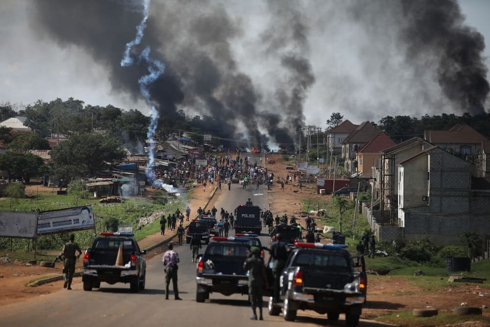 Tension in Anambra state as police station is set ablaze