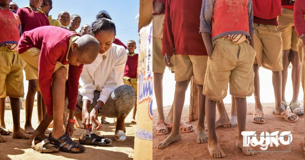 """Grace Wanene: Meet ex-model who provides needy pupils with """"growing shoes"""""""