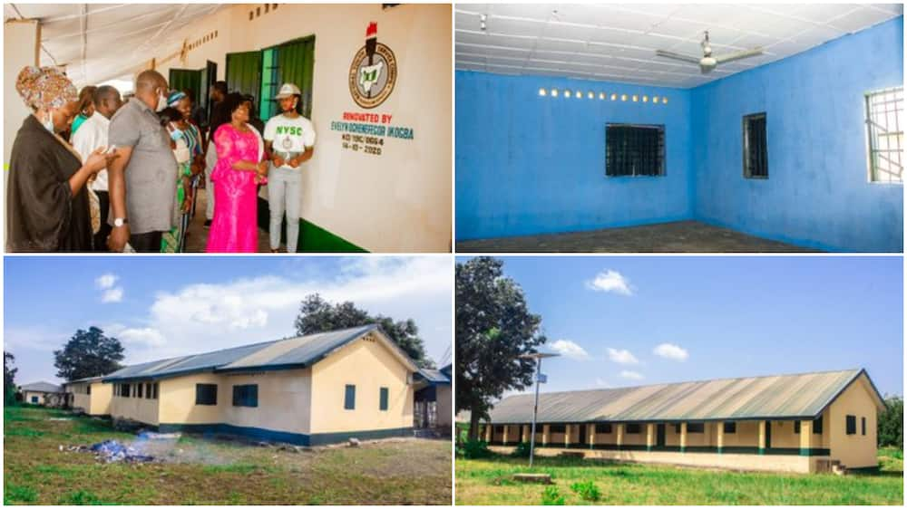 Corps Member Renovates Student Hostel in Kaduna, Fixes their Dirty Toilets, Bathrooms, Photos Spark Reactions
