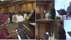 Teenage girl sings Nigeria's anthem in Greece as ambassador plays organ, reactions trail powerful rendition