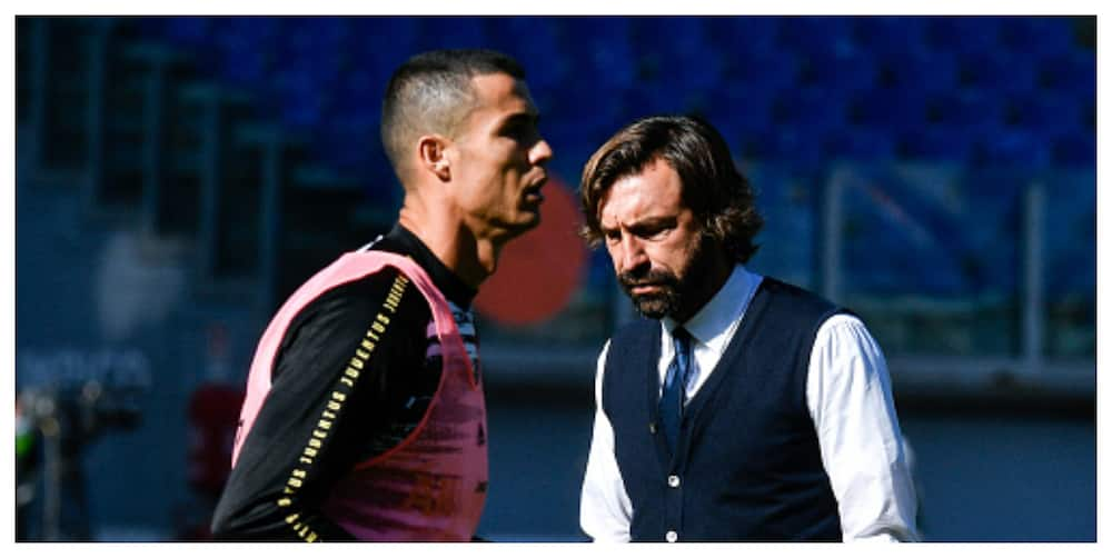 Ronaldo stunned after being substituted against Inter Milan as Juve boss Pirlo responds