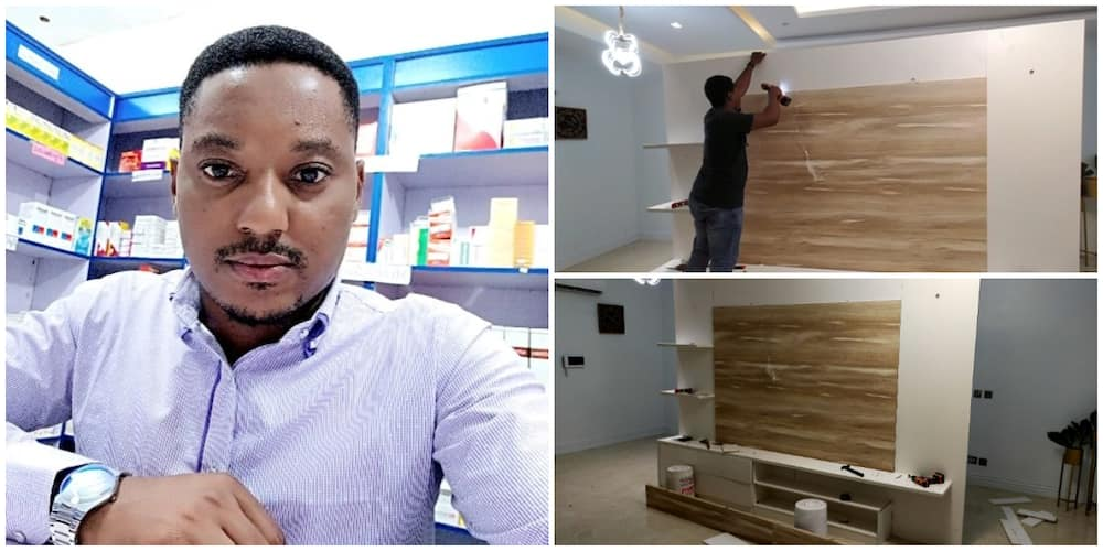 Joy as Nigeria man who was an Uber driver for lack of job starts his own company, shows off his designs