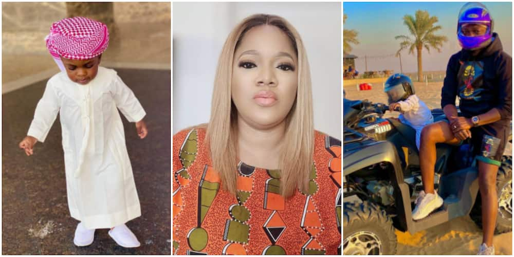 Check out these 7 adorable photos of Toyin Abraham's son, Ire