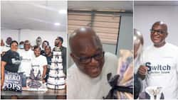 Nigerian dad gets emotional as kids surprise him on his birthday, many react to cute video