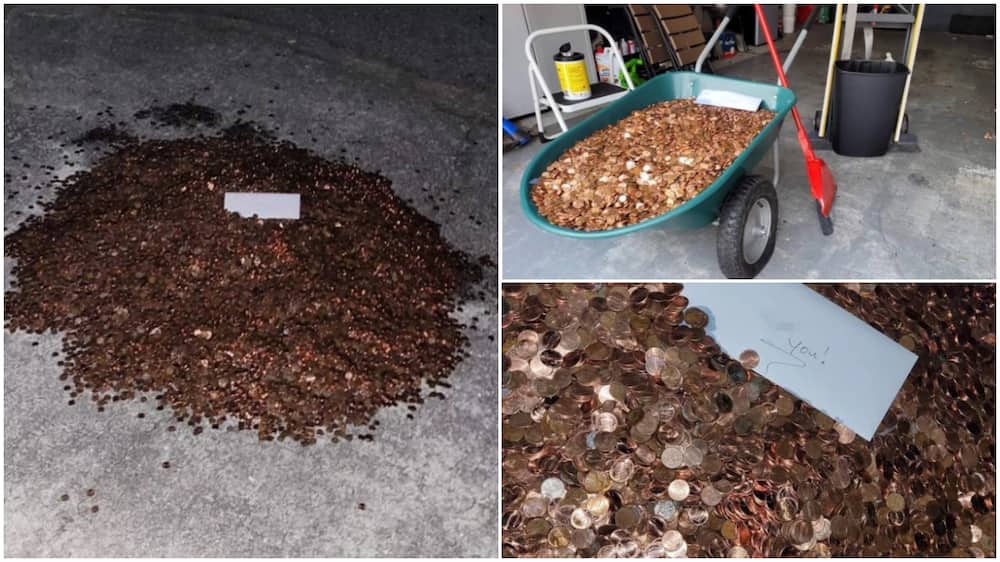 After Man Asked Former Boss to Pay him his Last N348k Salary, he Gets Oil Stained Coins of Same Amount