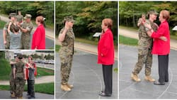 Social media reacts as US marine officer gets promoted to new rank by mum who served in the force for 22 years