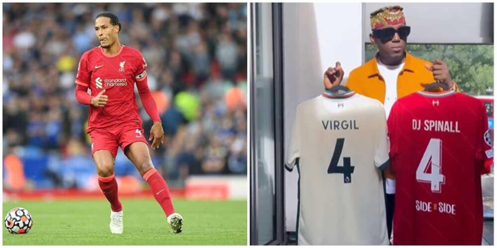 DJ Spinall happy as Liverpool player Virgil Van Dijk sends him customised jerseys