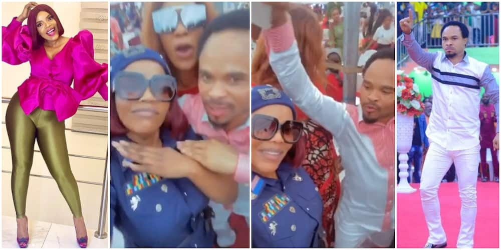 Nigerians react to emerging video of actress Empress Njamah and Odumeje having fun together at event