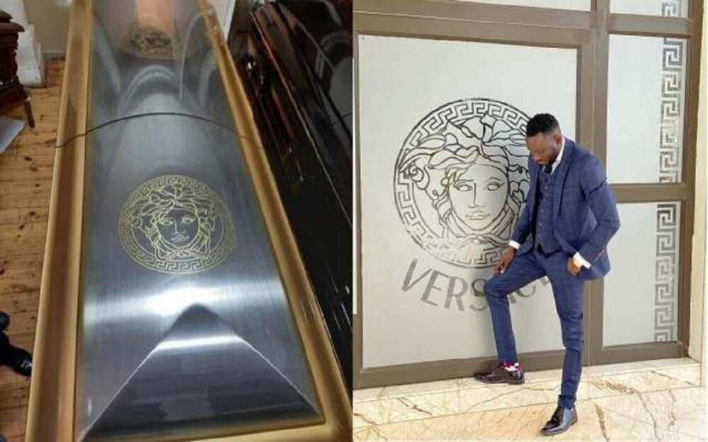 Hotunan akwatin gawa ƙirar 'Versace' da za a birne attajiri Ginimbi ciki