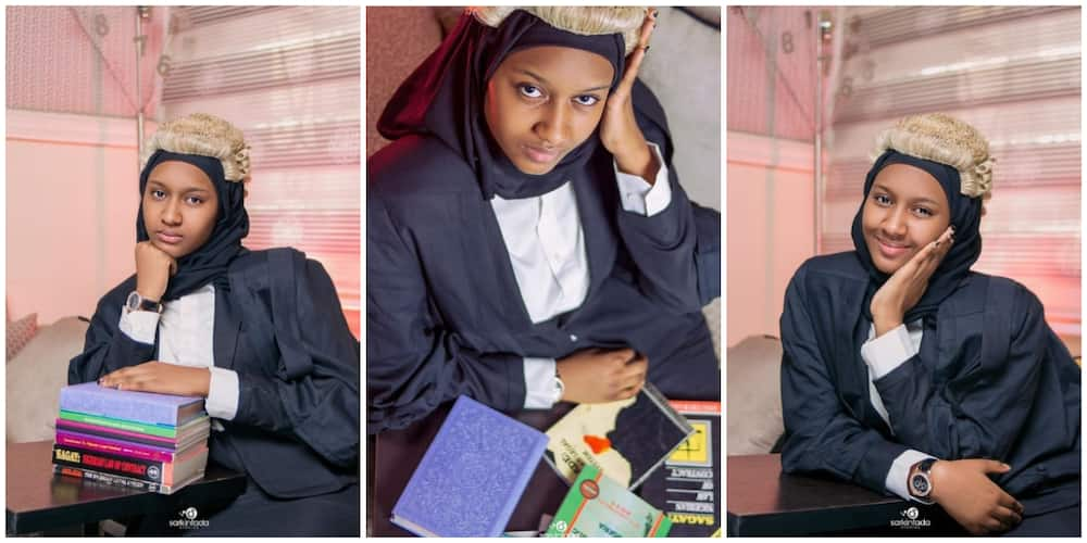 Pretty lady celebrates becoming a law graduate, Nigerians say her beauty can confuse a judge
