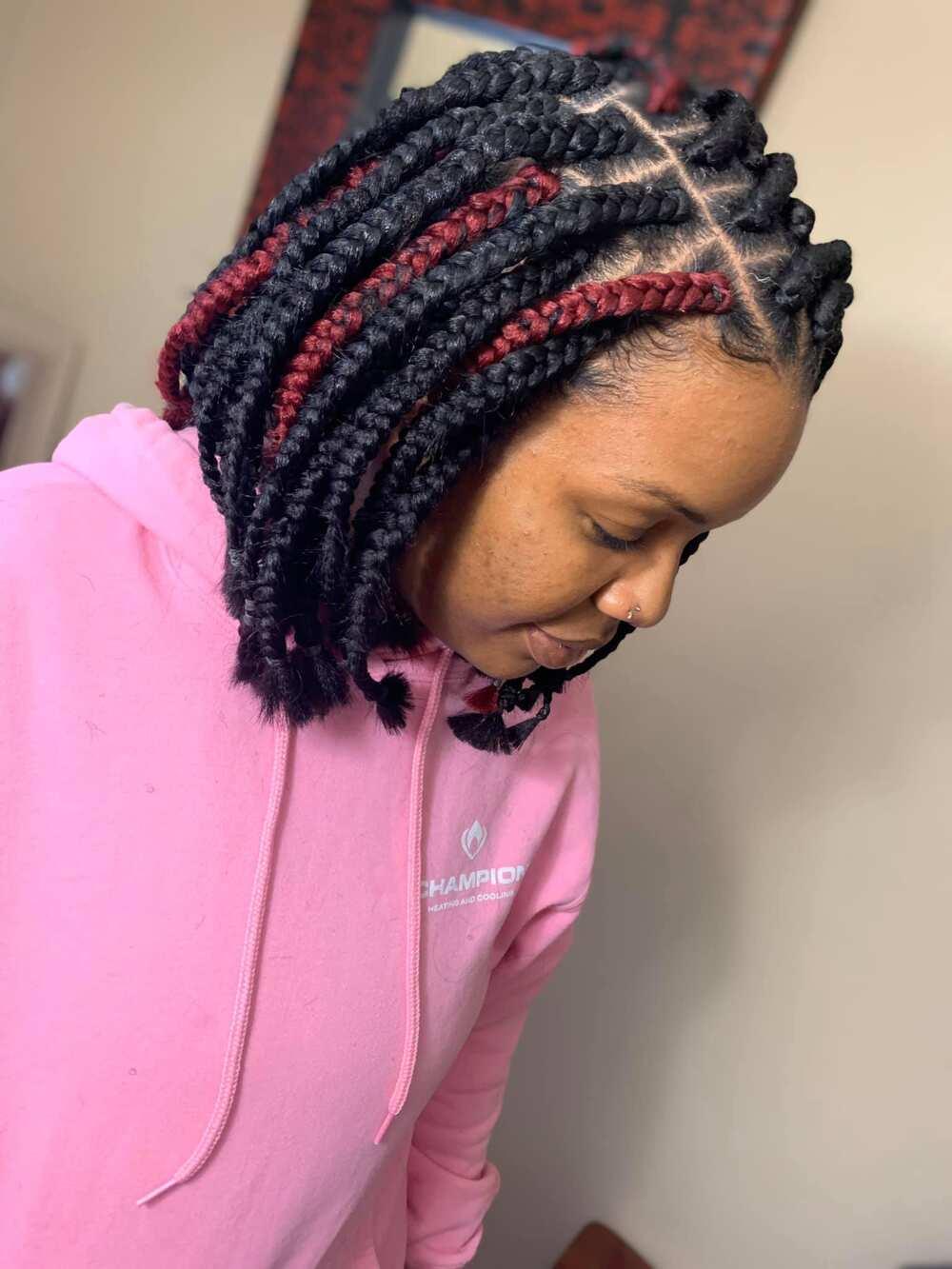 Shortbox braids hairstyles