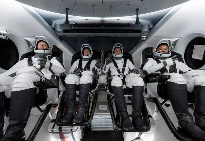 Great news as SpaceX launches 4 astronauts to ISS on from US