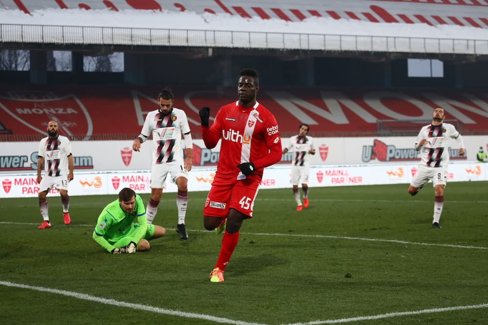 Mario Balotelli in action for Monza