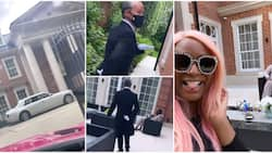 DJ Cuppy shares video of the oyinbo man working as a butler in billionaire father's mansion