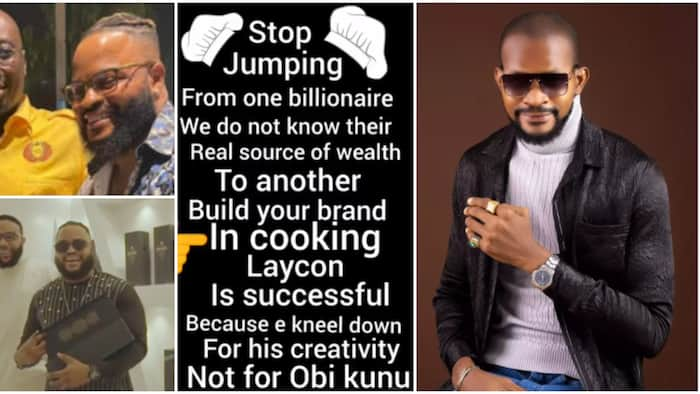 Stop jumping from billionaire to another: Uche Maduagwu to Whitemoney after chilling with Obi Cubana, E-Money